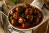 Homemade Barbecue Meat Balls with Red Sauce