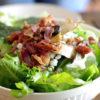 salad with bacon, ceasar salad