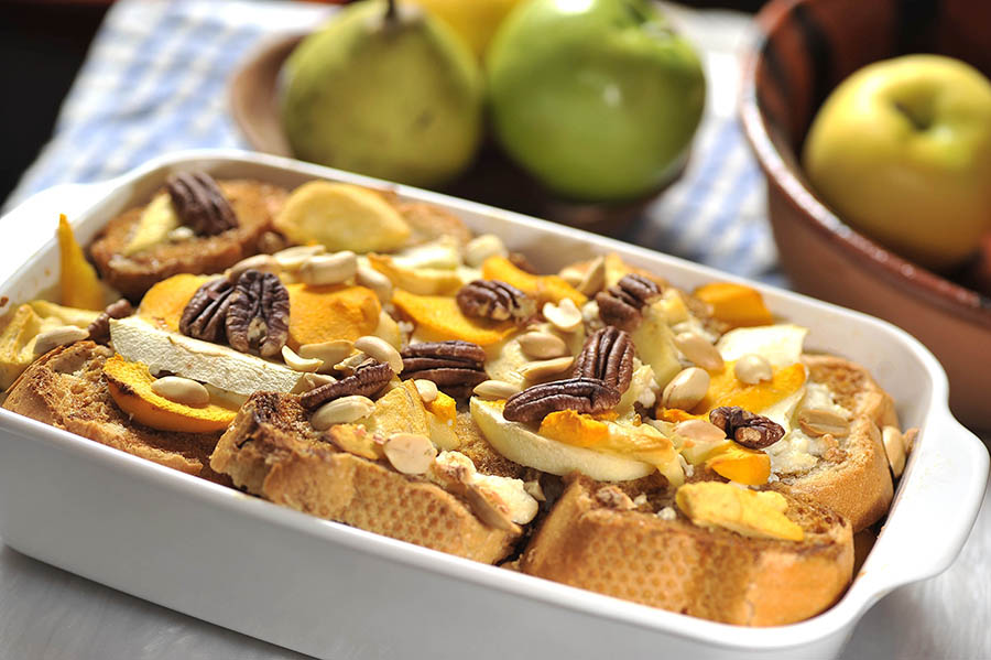 Bread Pudding with Dried Fruits