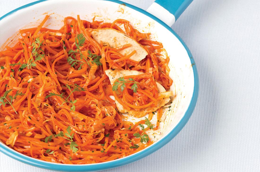 Carrot Tinga Tostadas