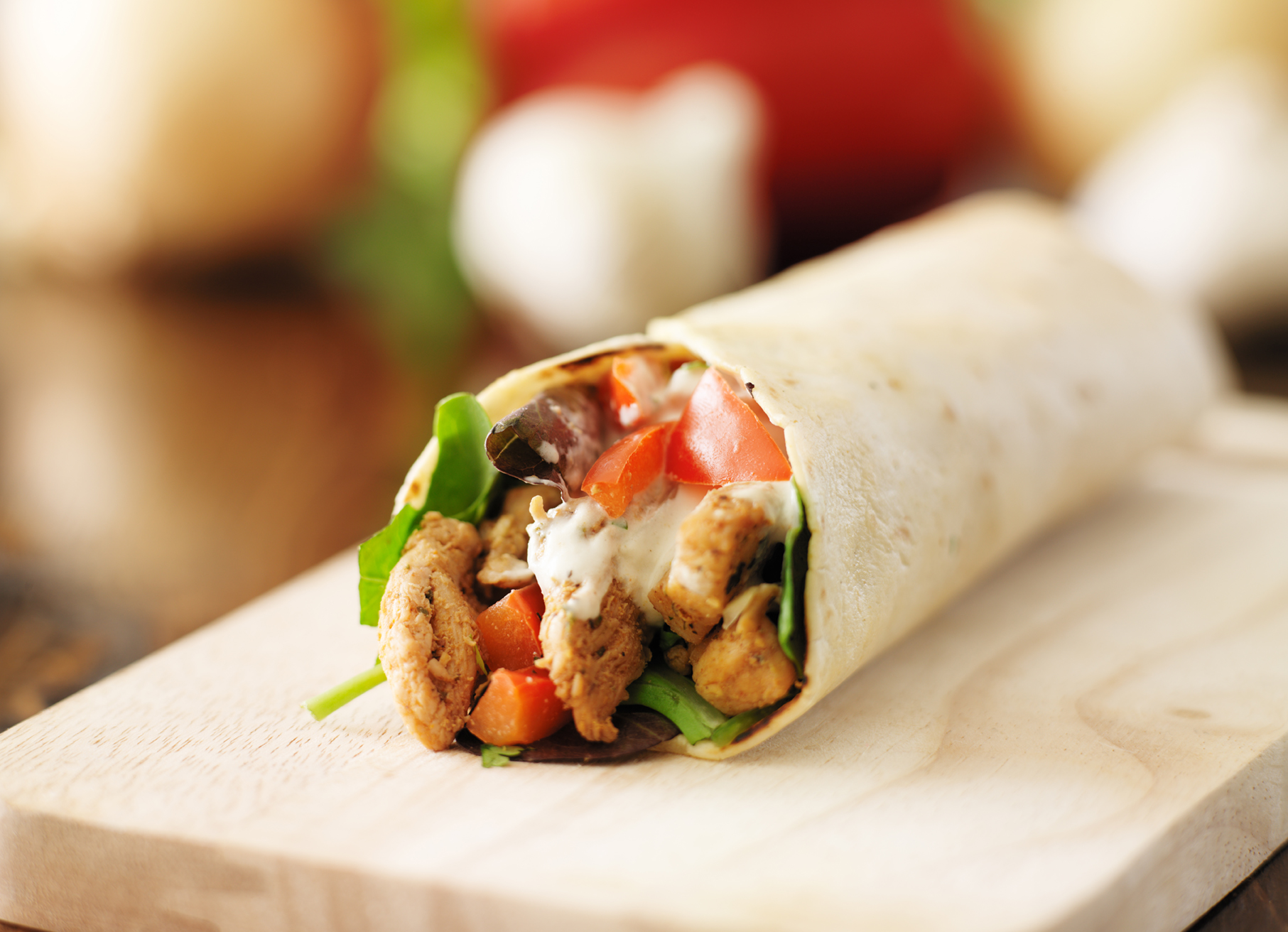 Chicken and Mozzarella Wrap