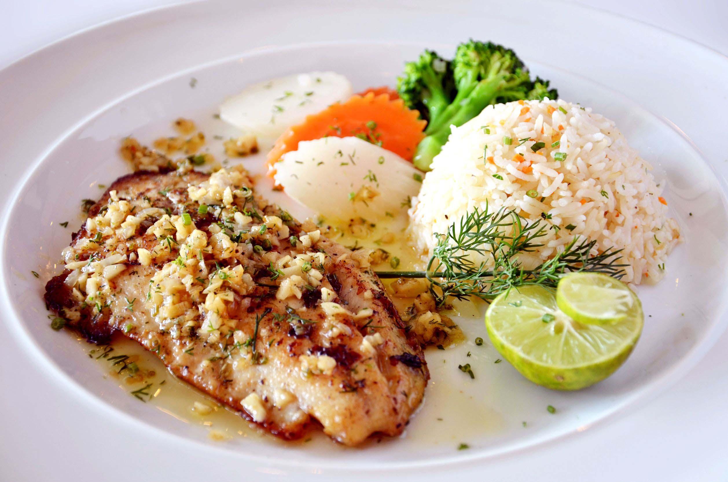 Fish with Garlic Mojo