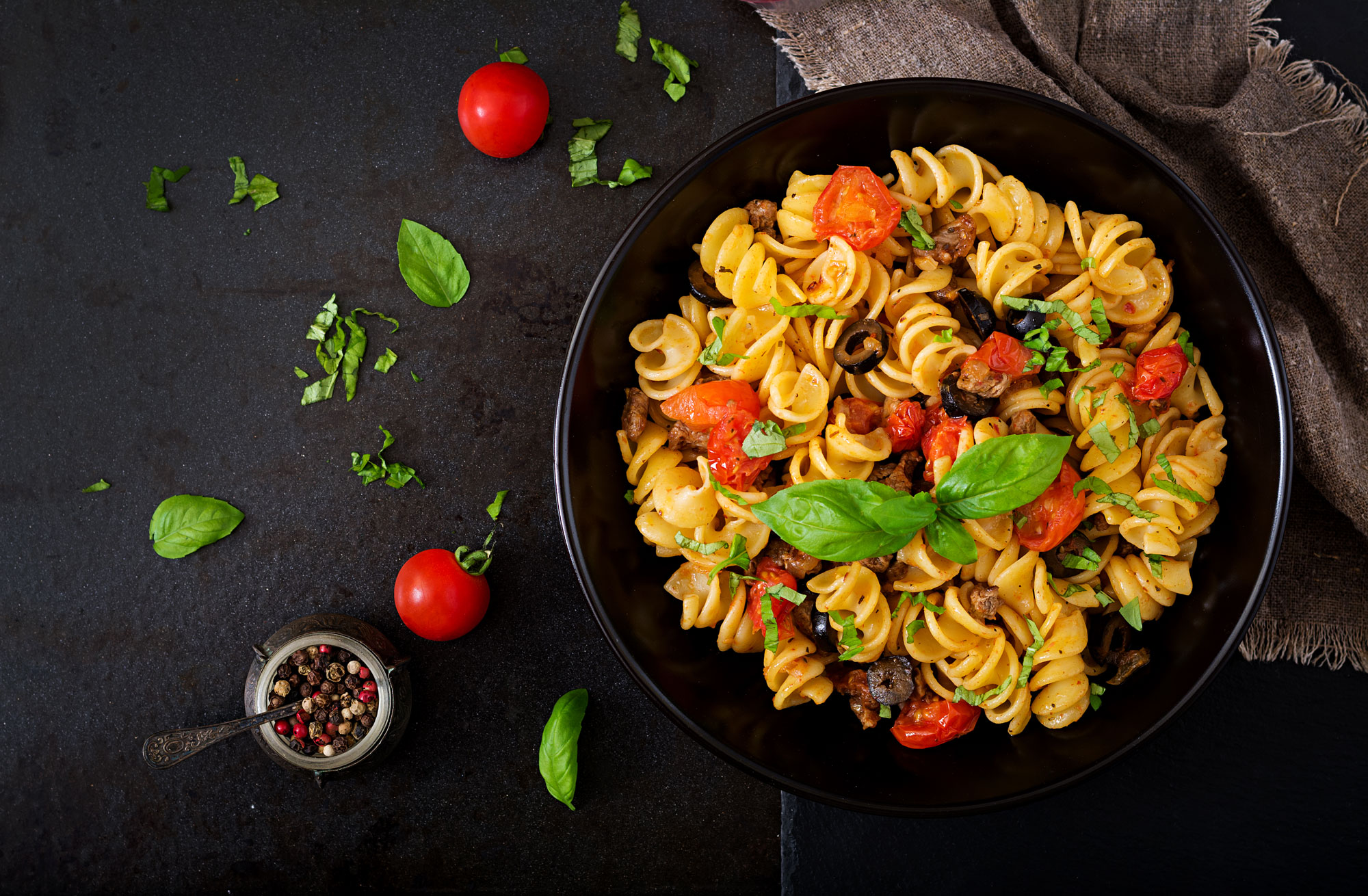 Fusilli Pasta with Meat