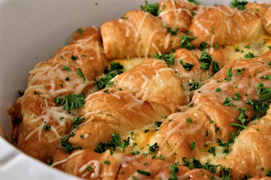 Holiday Croissant Strata