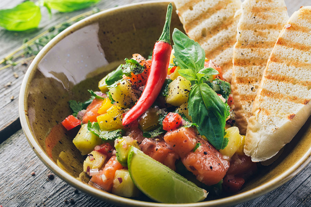 Salmon & Pineapple Ceviche