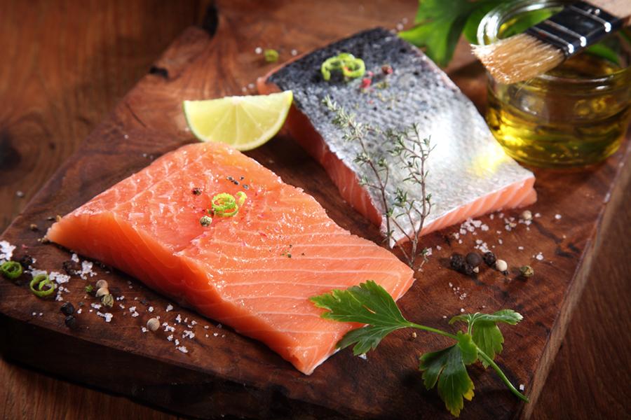 Cilantro Rubbed Salmon