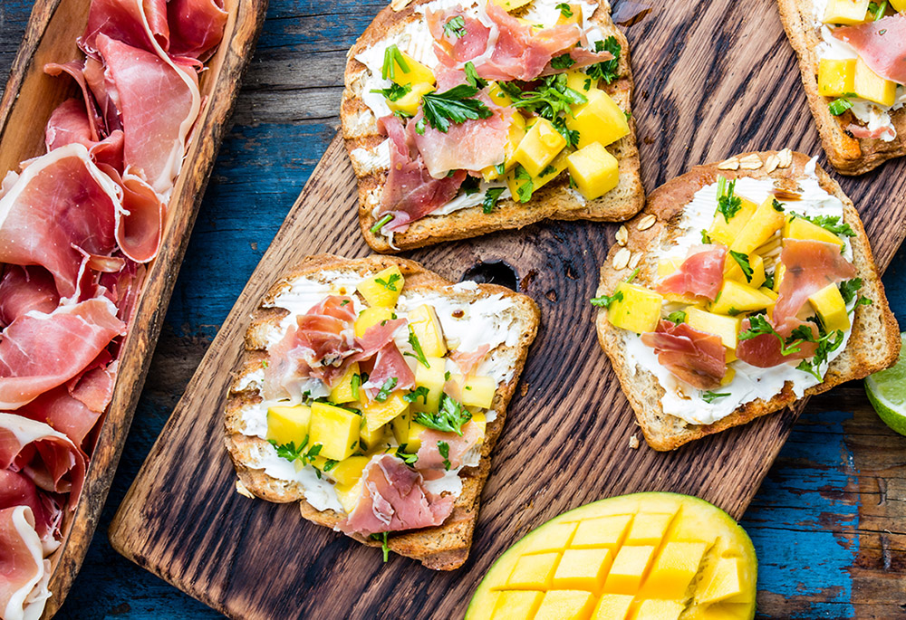 Serrano and Mango Toast